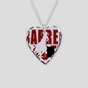 BARREL RACER [maroon] Necklace Heart Charm